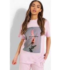 oversized t-shirt met rugopdruk, lilac