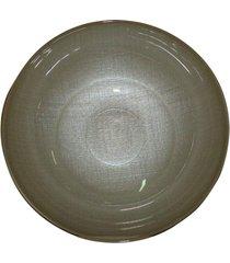saladeira dunya de vidro 25cm lino fumê