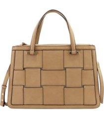 alfani woven work satchel, created for macy's