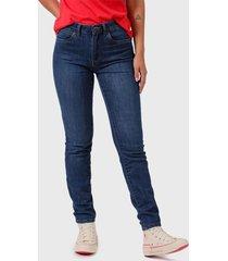 jeans wrangler medium azul - calce slim fit