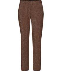 lurex tailored pants with tape detail slimfit byxor stuprörsbyxor brun scotch & soda