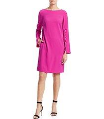 escada women's dehva button-trimmed shift dress - bright pink - size 36 (6)