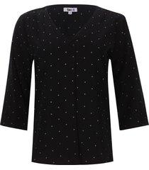 blusa 3/4 puntos color blanco, talla s