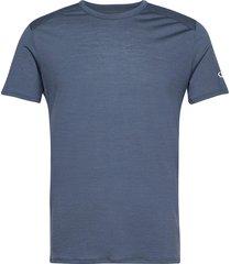 mens amplify ss crewe t-shirts short-sleeved blå icebreaker