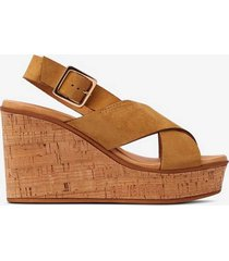 sandalett cork high wedge