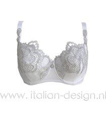 ambra lingerie bh's grand arche balconette bh wit 0322