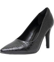 zapato negro marta sixto stiletto croco