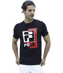 camiseta negro fila t shirt partido