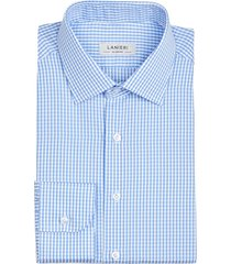 camicia da uomo su misura, canclini, quadri azzurri, quattro stagioni
