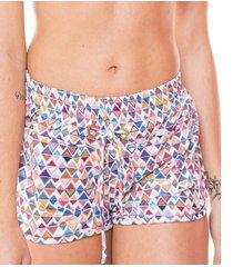 saída de praia dunacasual shorts com ilhós diamantes - 3119-diama-m