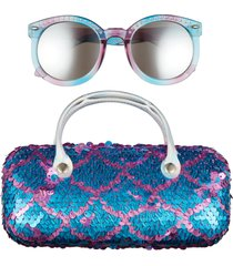 capelli new york mermaid sunglasses & case set in cool combo at nordstrom