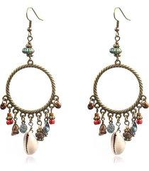 bohemain shell orecchini ethnic circle orecchini a goccia nappa fiore orecchini in pietra turchese per le donne
