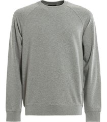 fay fay gray stretch cotton sweatshirt