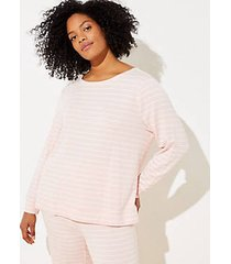loft plus striped pajama sweatshirt