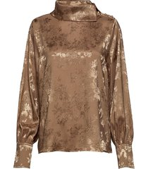 rajaiw blouse blouse lange mouwen bruin inwear