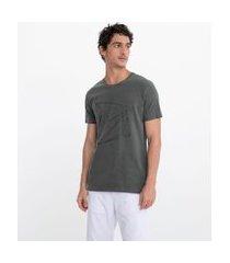camiseta manga curta com estampa polígono | request | cinza | gg
