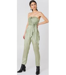 glamorous bandeau jumpsuit - green
