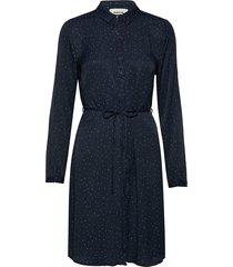 anastacia print dress knälång klänning blå modström