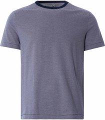 merz b schwanen 215 crew neck t-shirt | blue/natural | 215.6602