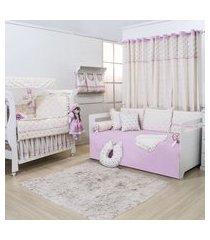 quarto completo padroeira baby alicia floral luxo
