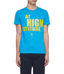 'at high altitude' print t-shirt