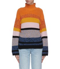 'the soleil' panelled stripe sweater