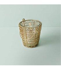 luminária porta-vela barinas cor: ouro - tamanho: único