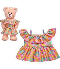 vestido tropical build a bear