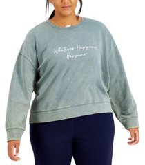 rebellious one trendy plus size whatever happens graphic-print sweatshirt