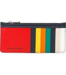 dolce & gabbana multicolor cardholder pouch
