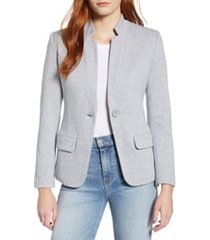 women's gibson notch collar cotton blend blazer, size xx-large - grey