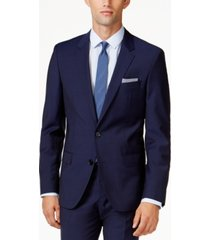 hugo men's blue extra slim-fit jacket