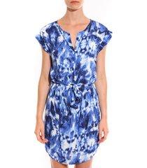 korte jurk davis robe mystique bleu