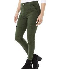 jeans ii cargo mujer militar corona