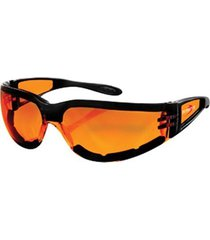 bobster shield sport sunglasses,black frame/amber lens,one size