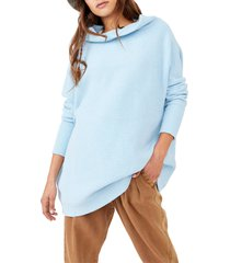 free people ottoman slouchy tunic, size x-small in dream blue at nordstrom