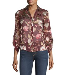 eloise button-front blouse