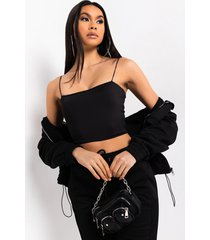 akira make my day thin strap cropped top