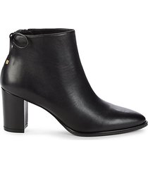 gardiner leather stack heel booties
