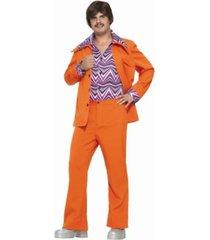 buyseasons men's leisure suit orange adult costume