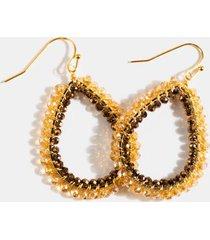 eva border beaded teardrop earrings - burgundy