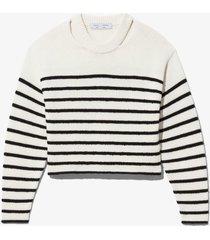 bouclé stripe sweater
