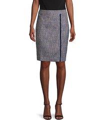 banded tweed skirt