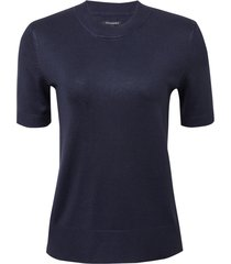 blusa le lis blanc olivia iii tricot azul marinho feminina (dark blue, gg)