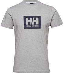 hh box t t-shirts short-sleeved grå helly hansen