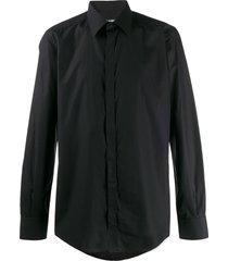 dolce & gabbana classic straight-fit shirt - black