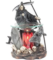 graveyard grim reaper oil/tart warmer - compatible with scentsy & yankee candle