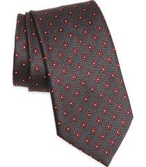 men's ermenegildo zegna silk tie, size one size - grey
