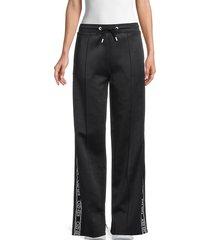 kenzo women's logo-tape track pants - bordeaux - size xl