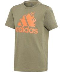 camiseta adidas estampada verde - verde - menino - dafiti